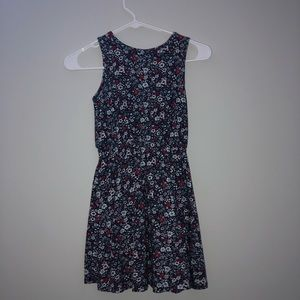 Red, White, and Blue Floral Girls Dress